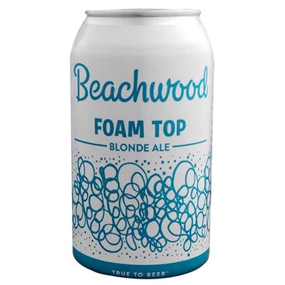 Beachwood Foam Top Blonde Ale 12oz can