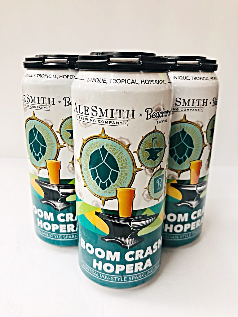 ALESMITH/BEACHWOOD COLLABORATION BOOM CRASH HOPERA SPARKLING ALE