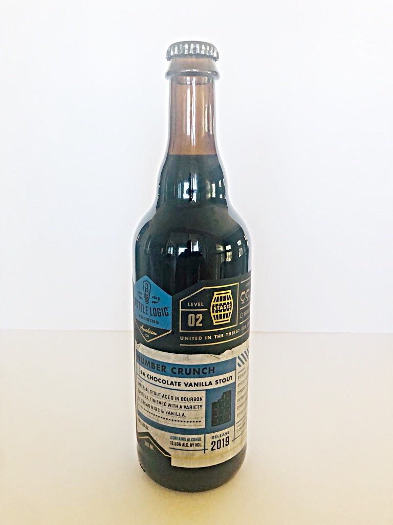 BOTTLE LOGIC NUMBER CRUNCH BA CHOCOLATE VANILLA STOUT 19'