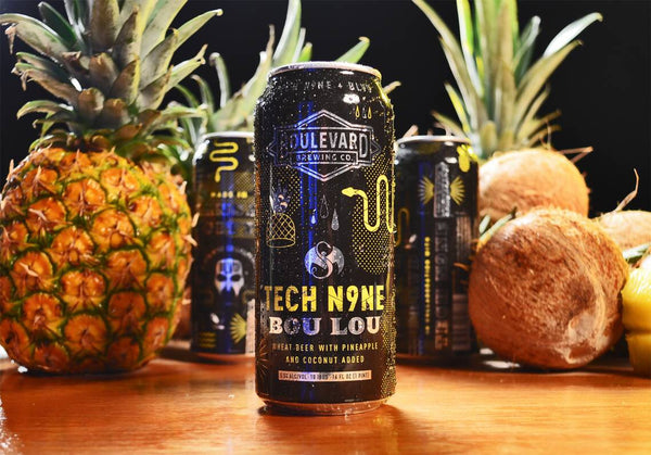 BOULEVARD TECH N9NE BOU LOU WHEAT BEER WITH PINEAPPLE & COCONUT