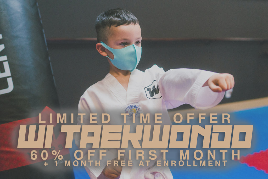 Limited Time Offer - One month of Taekwondo at 60% discount  + 1 month free at program enrollment