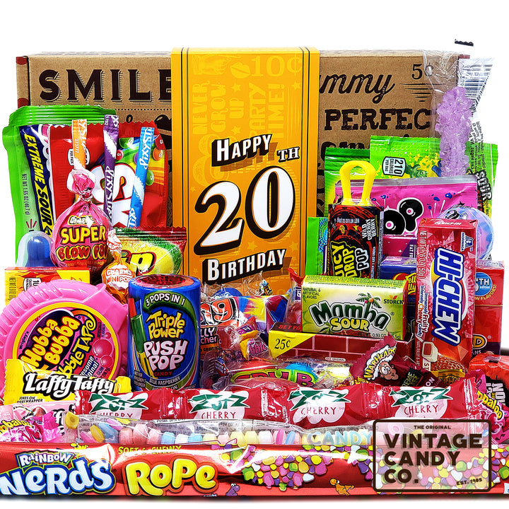 20th Birthday Retro Candy Gift Box