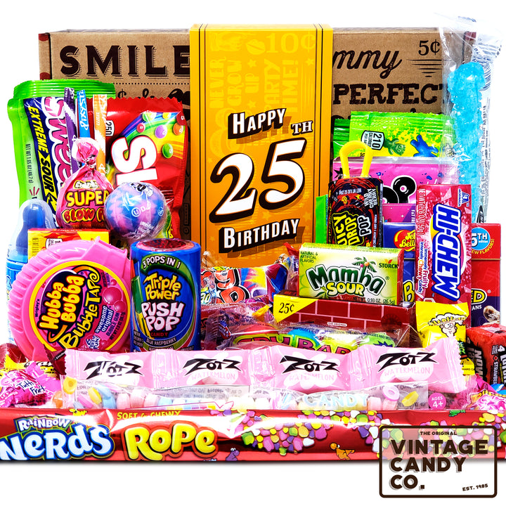 25th Birthday Retro Candy Gift Box