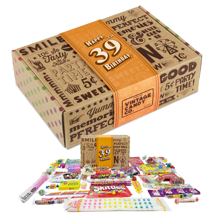 39th Birthday Retro Candy Gift Box