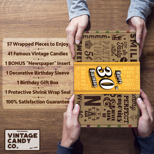 30th Birthday Retro Candy Gift Box