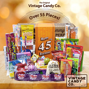 45th Birthday Retro Candy Gift Box