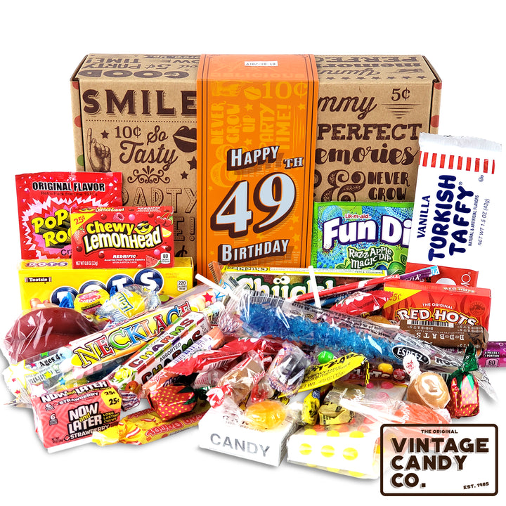 49th Birthday Retro Candy Gift Box