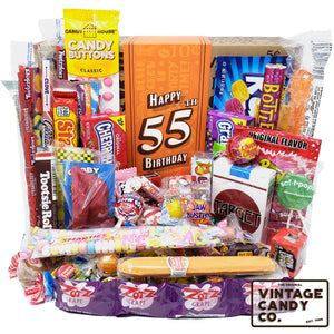 55th Birthday Retro Candy Gift Box