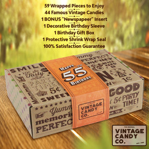 55 Years Old Birthday Gifts Birthday Gift For 55 Vintage Candy Co