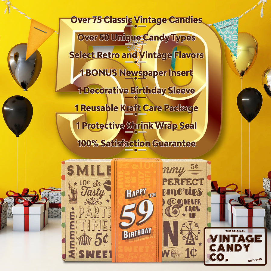 59th Birthday Retro Candy Gift Box