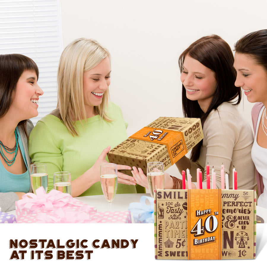 40th Birthday Retro Candy Gift Box