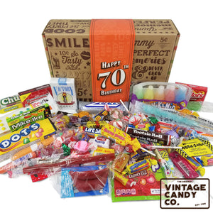 70th Birthday Retro Candy Gift Box