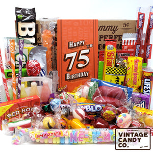 75th Birthday Retro Candy Gift Box