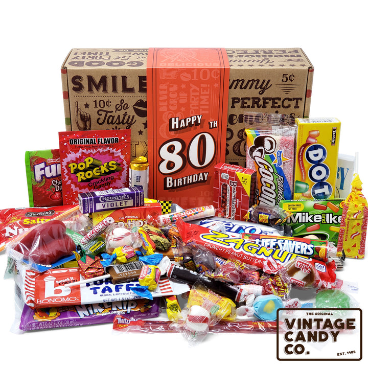 80th Birthday Retro Candy Gift Box