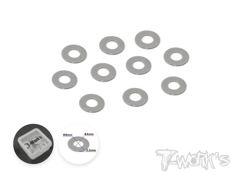 T-WORKS STAINLESS STEEL SHIM WASHER 5X8.0X0.5mm (10pcs)