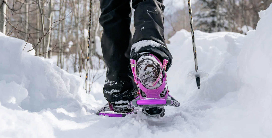 JunoActive Plus size women's clothing woman Snowshoeing