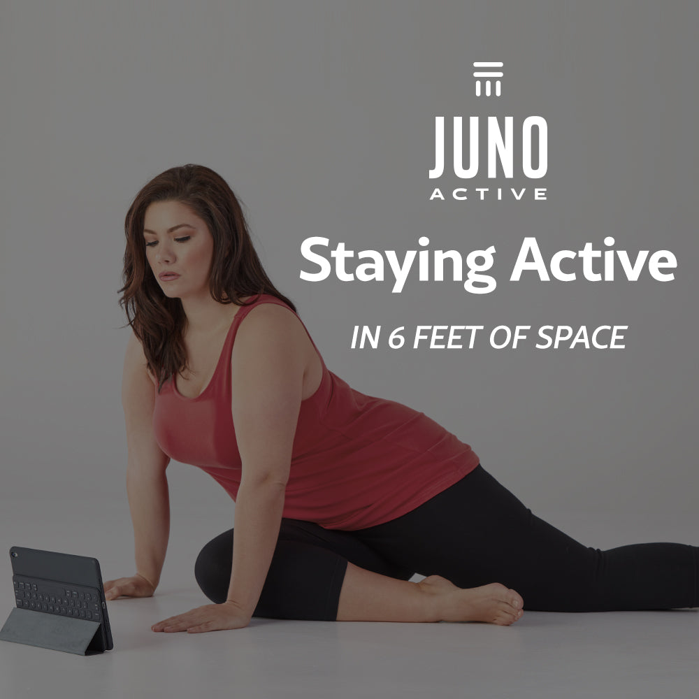 JunoActive 6x6 workout video knee hug-ins