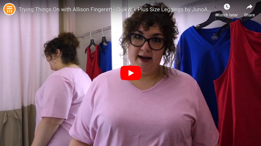[Video] Trying Things On with Allison Fingerett: The JunoActive QuikWik Leggings