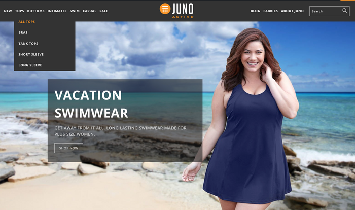 2a455df558a plus size clothing · JunoActive launches new website