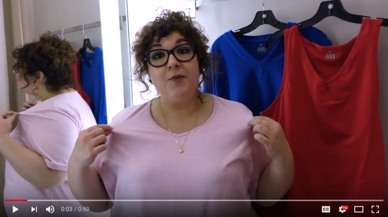 [Video] Trying Things On with Allison Fingerett: The JunoActive SoftWik Tee