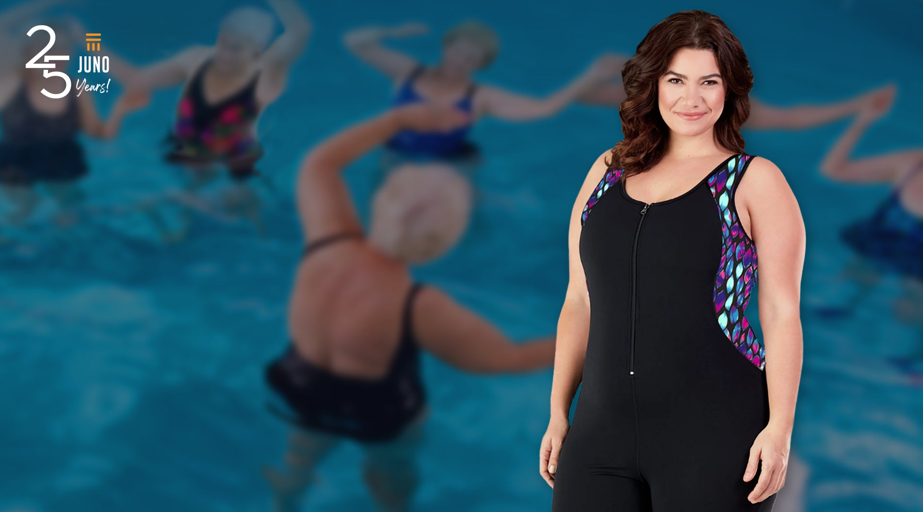 JunoActive plus size women's swimwear