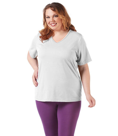 SoftWik® Basic V-Neck Tee - JunoActive