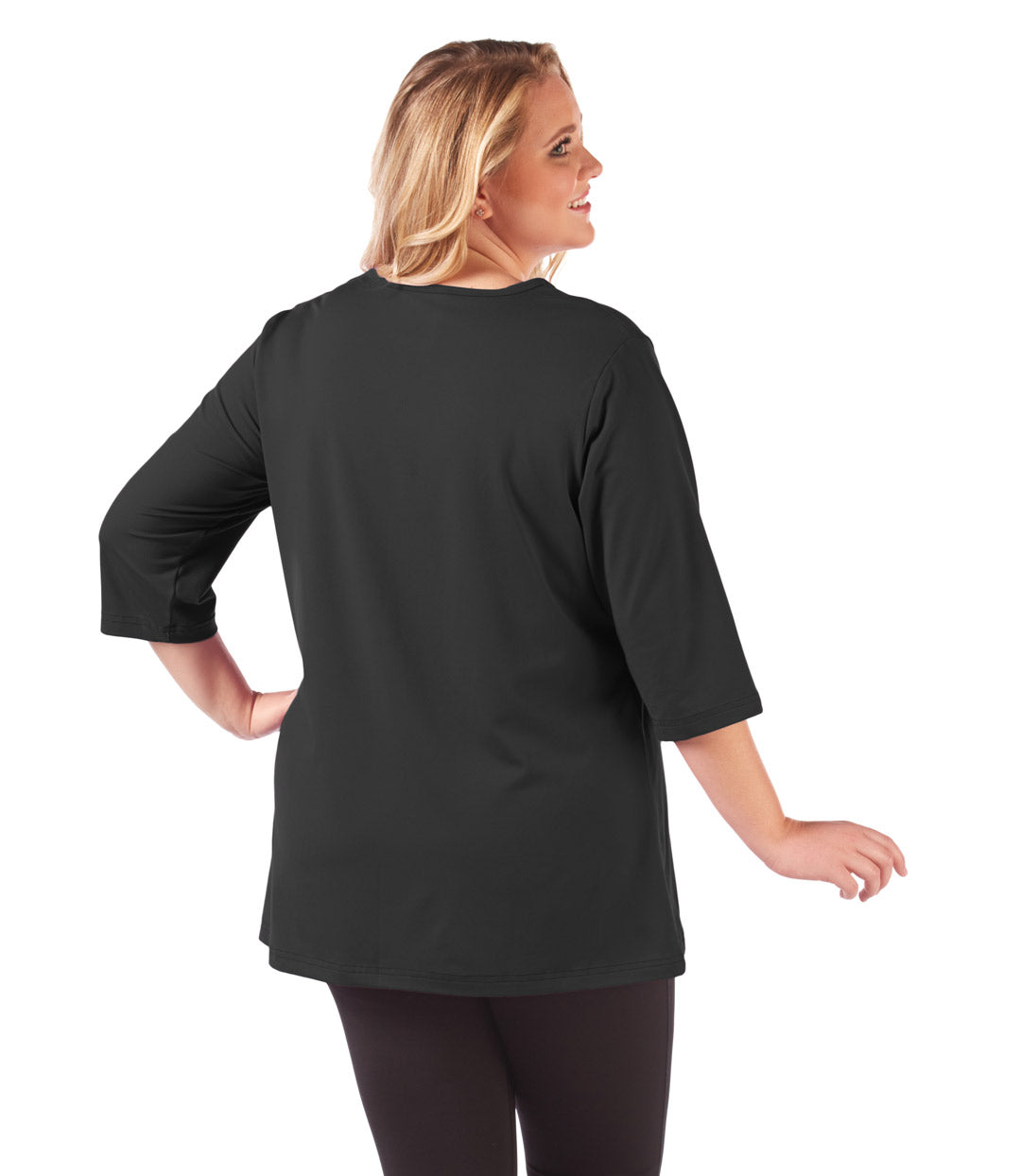 plus size tunic black