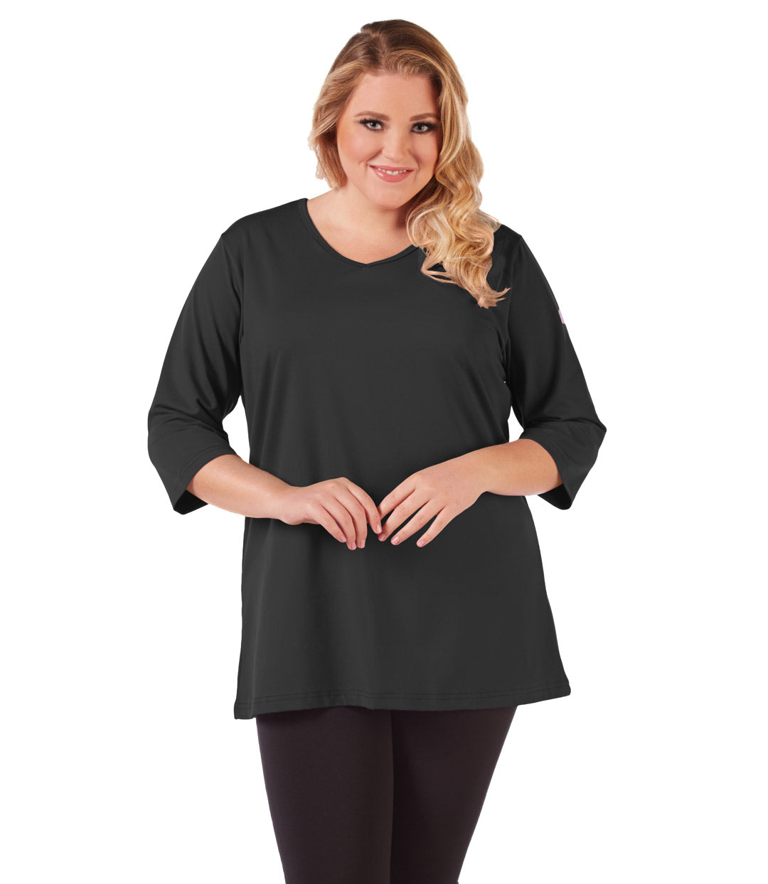 plus size activewear tunic top for women