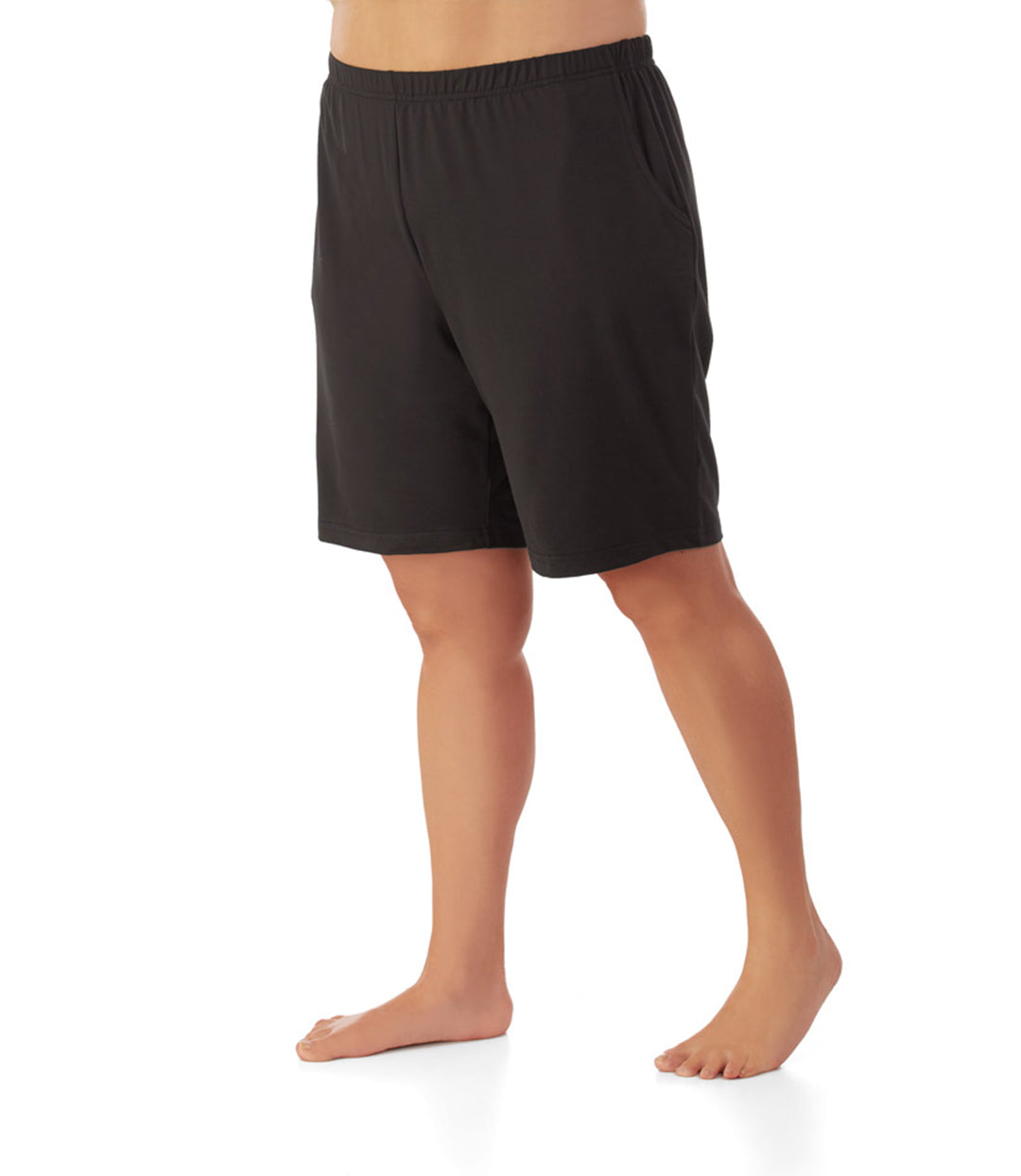 SoftWik® Relaxed Fit Shorts with pockets Black-Plus Size Activewear & Athletic Clothing-Osheka, Inc-XL-Black-JunoActive