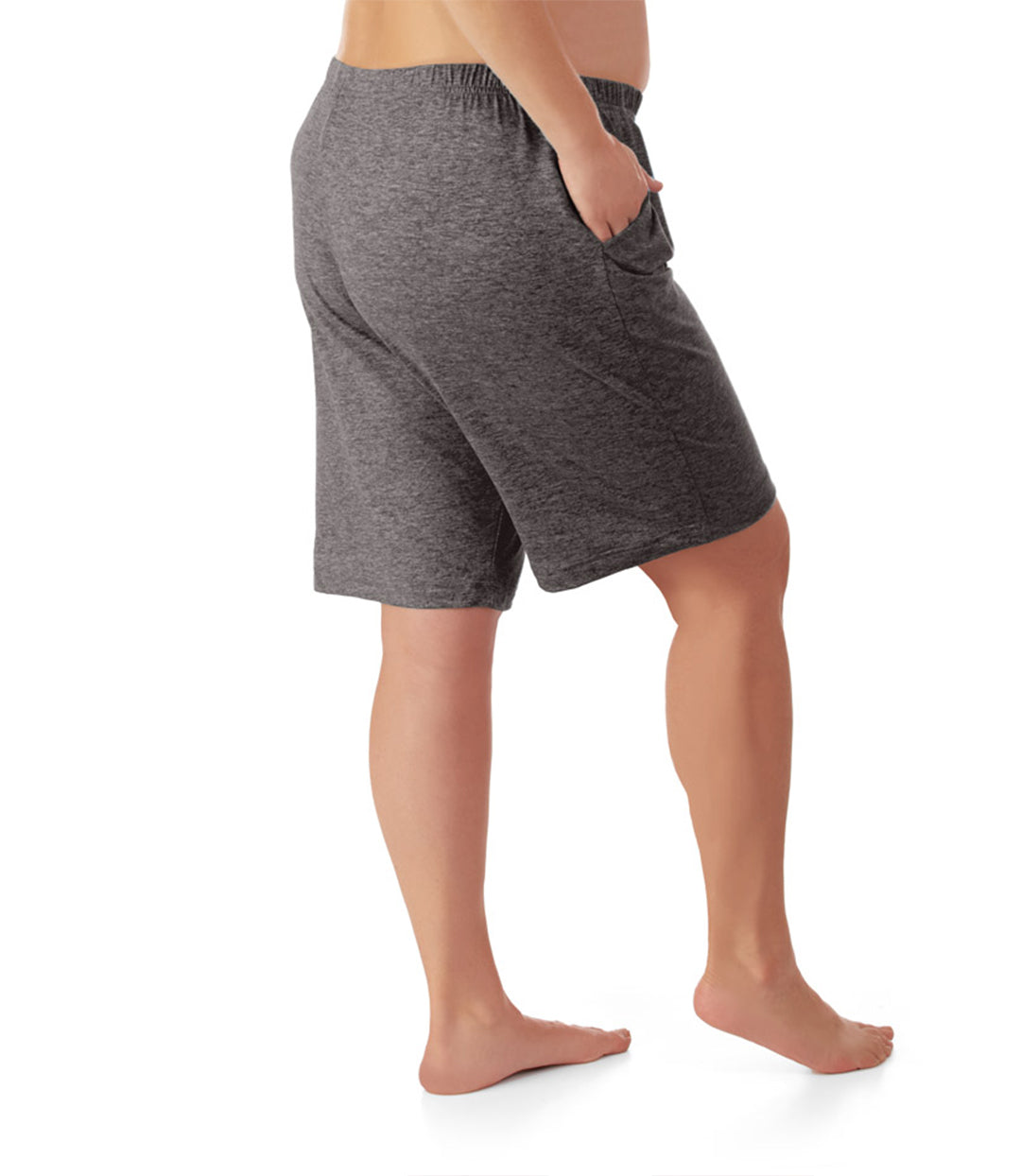 plus size yoga shorts with pockets