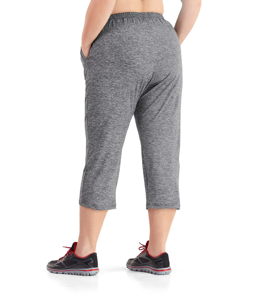 Charcoal Long Capri Pants Plus Size Activewear Junoactive