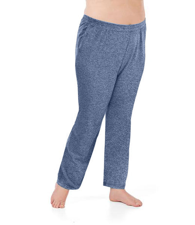 SoftWik® Pocketed Pant-Plus Size Activewear & Athletic Clothing-Osheka, Inc-1X-Heather Navy-JunoActive