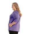 SoftWik® Womens V-Neck 3/4 Sleeve Top with Pockets-Plus Size Activewear & Athletic Clothing-Osheka, Inc-JunoActive