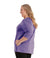 SoftWik® Womens V-Neck 3/4 Sleeve Top with Pockets-Plus Size Activewear & Athletic Clothing-Osheka, Inc-XL-Heather Violet-JunoActive