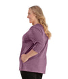 SoftWik V-Neck 3/4 Sleeve Top with Pockets Limited Edition Colors-Tops 3/4 Sleeve-Osheka, Inc-JunoActive
