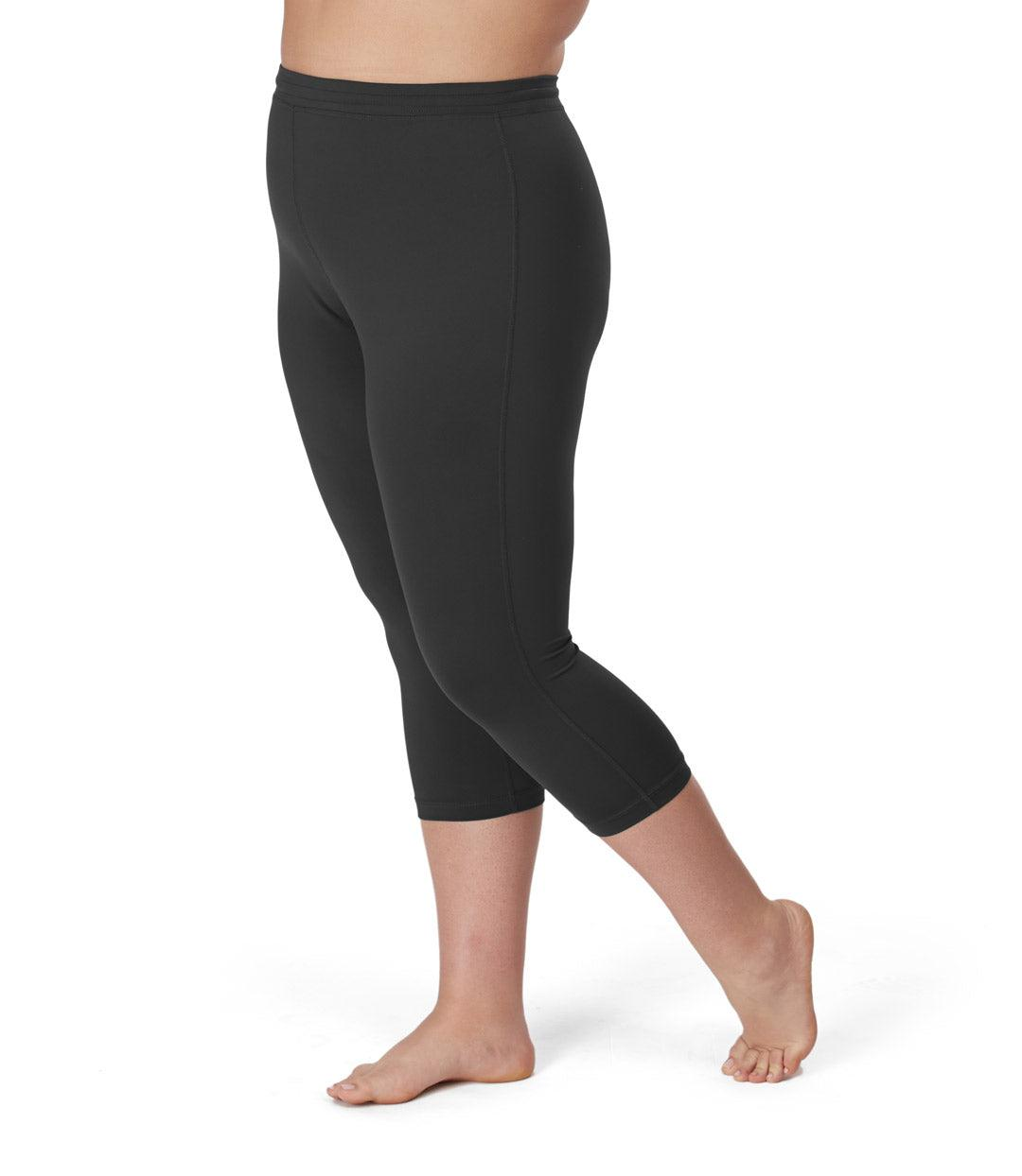Women's plus size activewear legging capri black