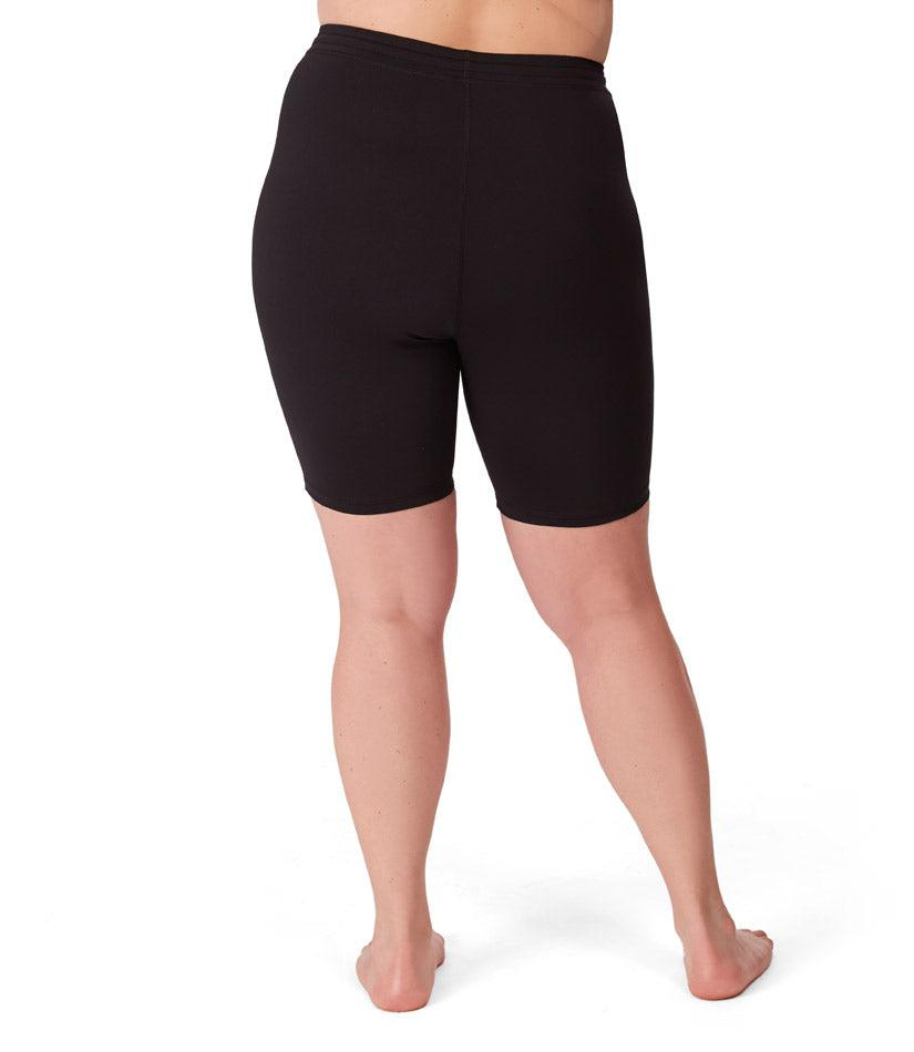 Plus size activewear spandex shorts black