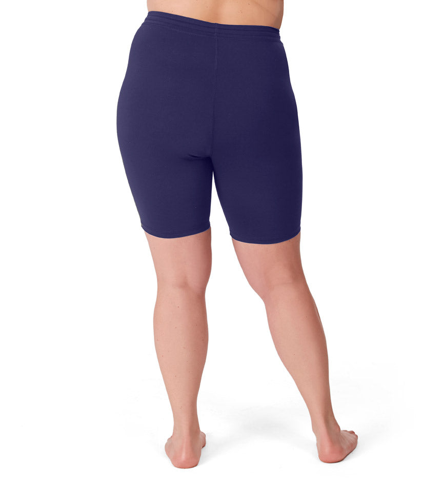 QuikWik® Bike Shorts In Navy Blue - JunoActive