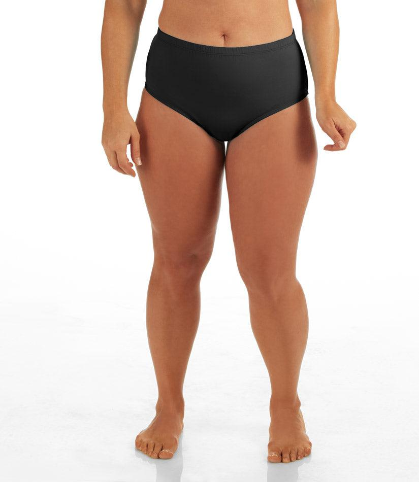 QuikWik® Comfort Briefs-Plus Size Activewear & Athletic Clothing-Osheka, Inc-1X-Black-JunoActive