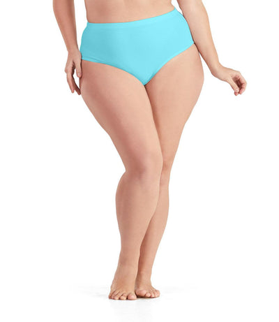 QuikWik® Comfort Briefs-Plus Size Activewear & Athletic Clothing-Osheka, Inc-1X-Light Turquoise-JunoActive