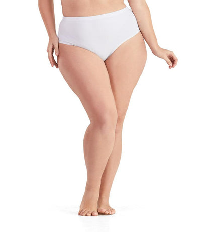 QuikWik® Comfort Briefs-Plus Size Activewear & Athletic Clothing-Osheka, Inc-1X-White-JunoActive