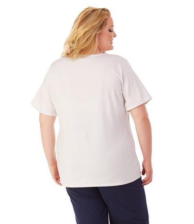 Women's plus size activewear wicking top