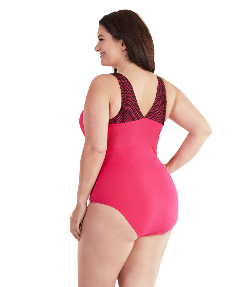 AquaChic™ Tank Suit with Mesh - JunoActive
