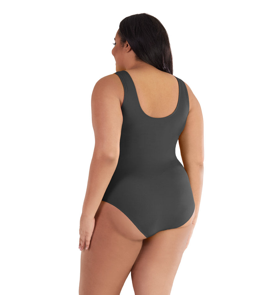 plus size one piece swimsuit black