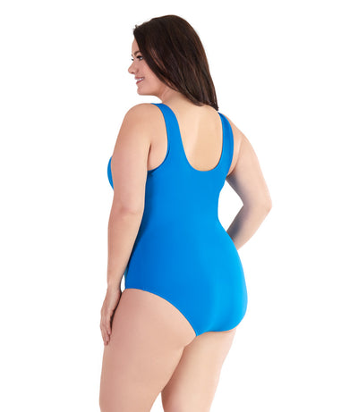 athletic plus size swimwear one piece swimsuit
