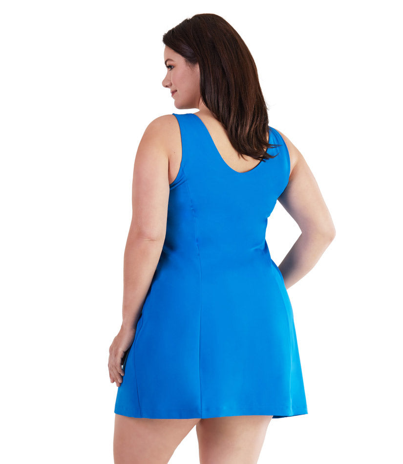 plus size one piece swimsuit dress