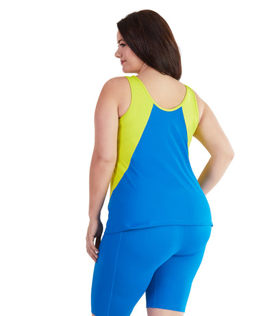 AquaCurve Color Block Tankini - JunoActive