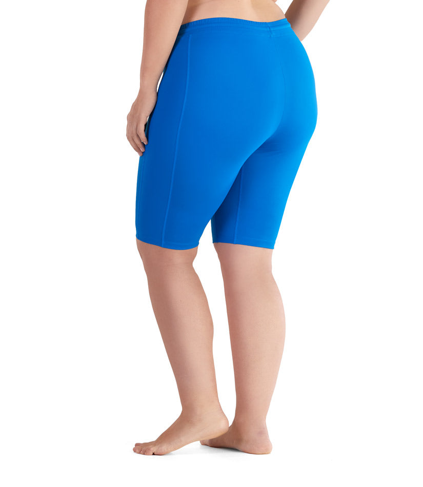 womens plus size swim shorts long