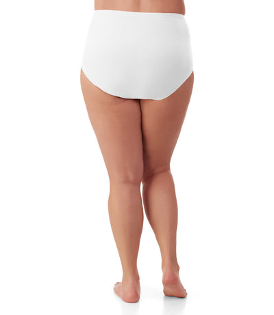 plus size panties white