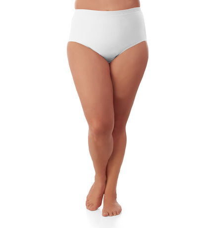 plus size underwear brief white